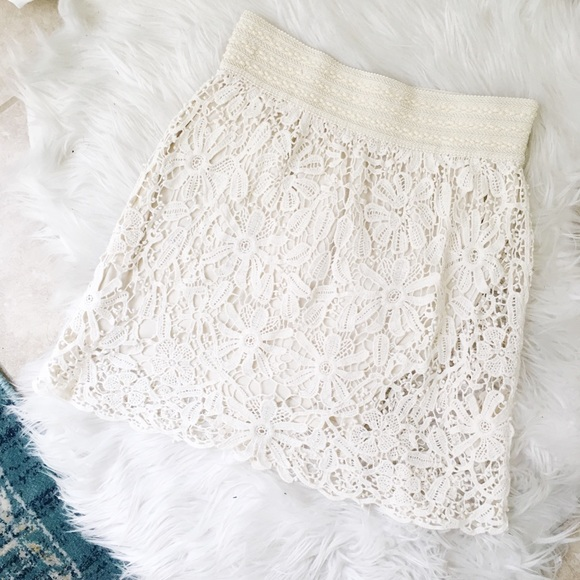 Forever 21 Dresses & Skirts - crochet lace skirt